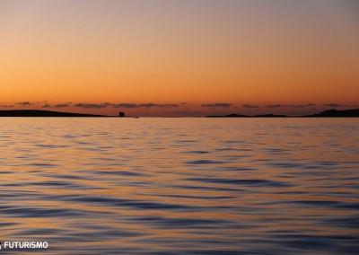 Escursione Asinara al tramonto, magico tramonto visto dalla barca