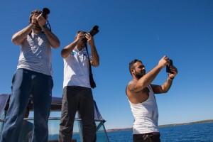 Fotografando le alte falesie del versante occidentale dell'Asinara