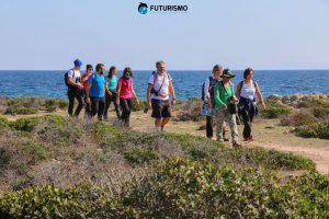 Gruppo di escursionisti, Trekking all'Asinara